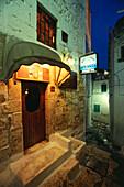 Exterior view of Restaurant Spessite, Ostuni, Gargano, Apulia, Italy