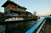 water road, transport houses on stilts, Inle Lake, Myanmar