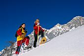 Snowshoeing, Ramsau, Styria Austria, Winter