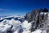 Mountain top landscape, Ramsau, Styria Austria, Winter
