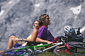 Couple, Mountainbiking, Ramsau, Steiermark Austria