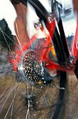 Detail of a mountain bike