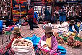 Marktszene, Peru, Suedamerika