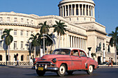 vintage cars used as Taxis, in front of Capitolio, Havana, Cuba