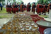 Whisky-Pause, Men of Lonach, Strathdon, Schottland
