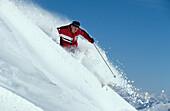 Skifahrer, Tiefschnee