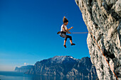 Climbing at Lake Garda, Trentino, Italy