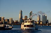 City-Skyline und Swan River, Perth Western Australia, Australien
