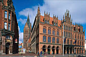 Old City Hall with church Marktkirche, Hannover, Lower Saxony, Germany