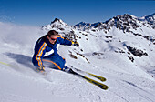 Ski, Carving, Piste, Frau