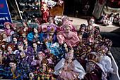 Ungarische Puppen, Váci Utca, Shopping-Meile Budapest, Ungarn