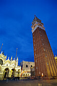 People standing at St. Marks Square in the evening, Venezia, Veneto, Italy