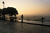 early morning, view over Paris from Sacre Coeur, Paris, France
