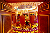 Grand dining room at Royal Suite, Hotel Burj Al Arab, Dubai, V.A.E., United Arab Emirates, Middle East, Asia