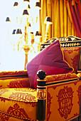 Armchair at Royal Suite, Hotel Burj Al Arab, Dubai, V.A.E., United Arab Emirates, Middle East, Asia