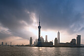 Skyline of Pudong, Bund, Shanghai, China