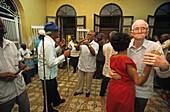 elderly dancing couples in Casa del Etudiante Son Veterano, Santiago de Cuba, Cuba
