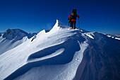Snowshoeing Tour, Winter trekking, Nebelhorn, Allgaeuer Alpen, Allgaeu, Germany