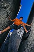 Freeclimbing, Dolomites Italy-Sport