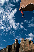 Freeclimbing, Stefan Glowacz, Smith Rocks, Oregon, USA, Sport