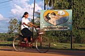 Anti-aids-poster, Kompong Thom Cambodia, Asia