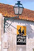 Nitrato de Chile advertising poster, Obidos, Portugal