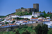 View on the city fortification, Mértola, Alentejo, Portugal
