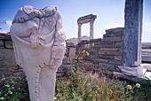 Agora Italica, Delos, Cyclades, South Aegean, Greece