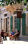 Street cafe in Pissouri, Pissouri, South Cyprus, Cyprus