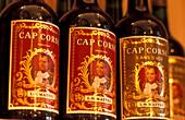 Three bottles with Liquer, Cap Corse, Bastia, Corsica, France