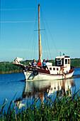 Boat trip, Dreverna, Kurische Nehrung, Lithuania Baltic States
