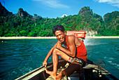 Boat excursion, Krabi, Andaman Sea, Thailand