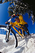 Snowbiking, Alpen, Österreich