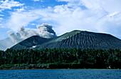 Volcano- from Sea, Tavuvur, Rabaul, East New Britain Papua New Guinea, Melanesia