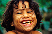 Happy Boy, Portrait, Moorea, Windward Islands French Polynesia, South Pacific