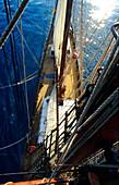 Boat deck, from Rig, Sailing Vessel, Bora Bora French Polynesia, South Pacific, PR
