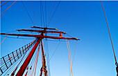 Climbing on Rah, Sailing Vessel, Bora Bora French Polynesia, South Pacific