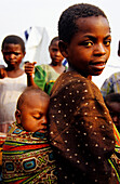 Girl with Baby, Refugee Camp, Goma, Congo, Africa