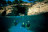 Taucher, Cap Formentor, Mallorca, Balearen Spanien