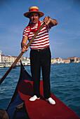 Gondolieri, Venedig, Venetien Italien