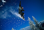 Snowboarding, Jump, Alps Winter sports