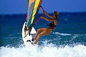 Windsurfing, Woman, Sports