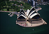 Aerial view of the opera, Sydney, Australia