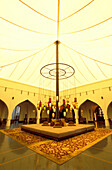 The light-flooded lobby of the Chedi Hotel, Muscat, Oman