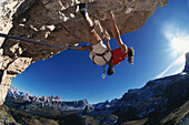 Klettern, Bergsteigen, Dolomiten Italien