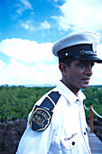 Mitarbeiter der Security, Hotel Le Prince Meurice Mauritius