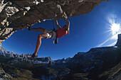 Freeclimbing, Dolomiten Italien