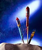 Feuerwerk, Rakete