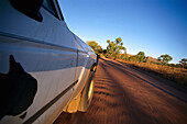 Jeep, On the road, Kimberley Plateau, WA Australia