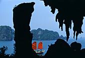 Junk in Halong Bay, Halong Bay, Vietnam Indochina